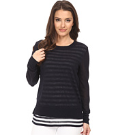 MICHAEL Michael Kors - Petite Shirred Double Layer Starp Sweater