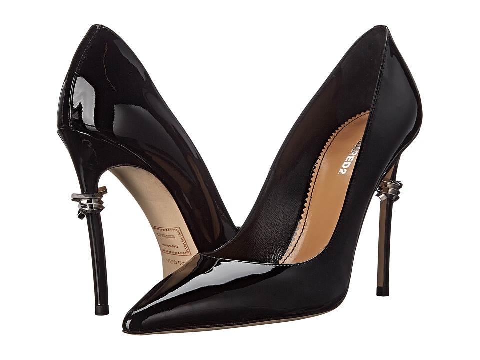 DSQUARED2 Barbed Wire Pump Vernice Nero High Heels