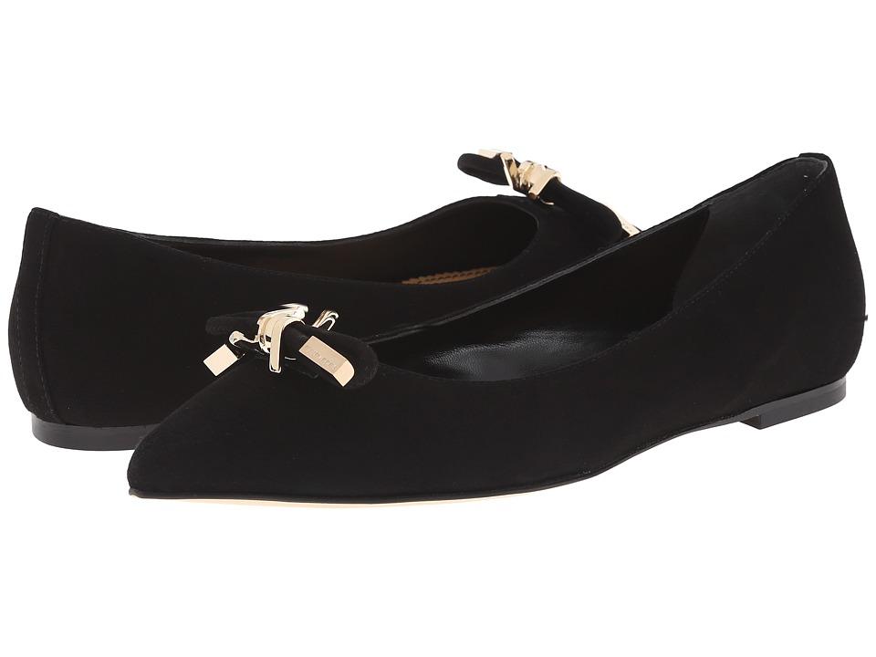 DSQUARED2 Ballerina Camoscio Nero Womens Slip on Shoes