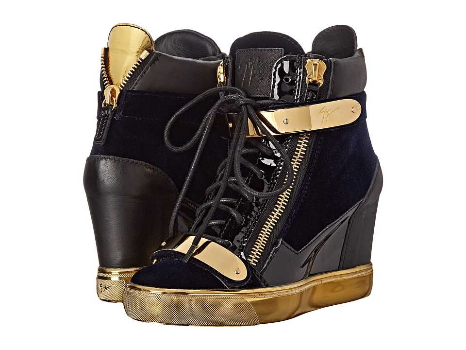 Giuseppe Zanotti RW5010 Veronica Navy Womens Wedge Shoes