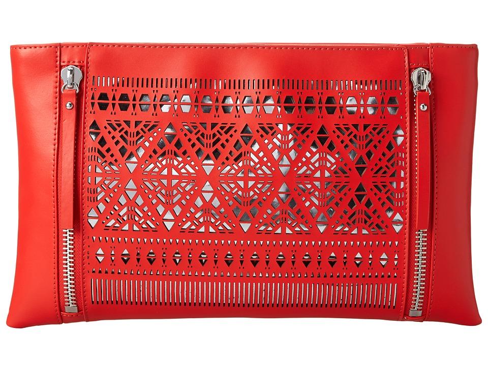 Vince Camuto - Lila Clutch (Poppy Red/Silver) Clutch Handbags