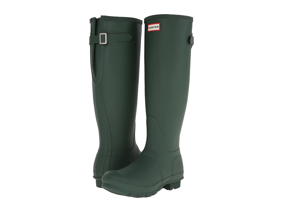 Hunter Original Back Adjustable Rain Boots (Hunter Green)...