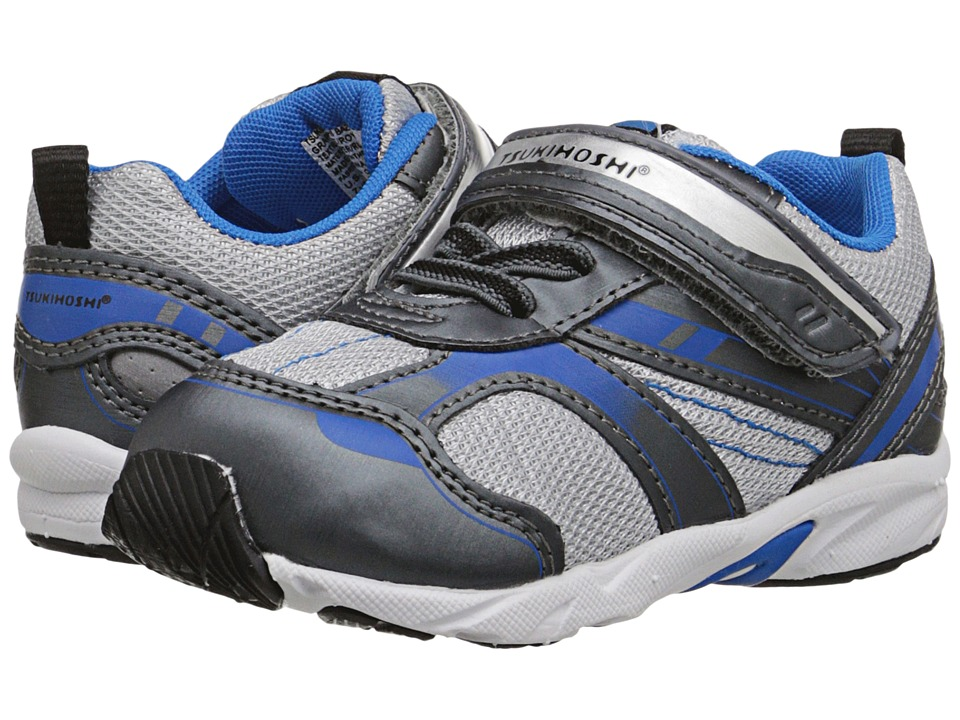 Tsukihoshi Kids - Sport (Toddler) (Graphite/Royal) Boys Shoes