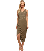 Vince Camuto - Sleeveless Wrap Front Tank Dress w/ Embroidery
