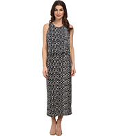 Vince Camuto - Tropical Etching Maxi Dress w/ Crop Over
