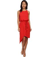 Vince Camuto - Sleeveless Asymetrical Hem Wrap Front Dress