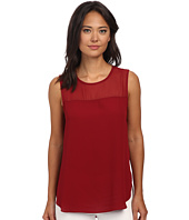 Vince Camuto - Sleeveless Blouse w/ Chiffon Yoke