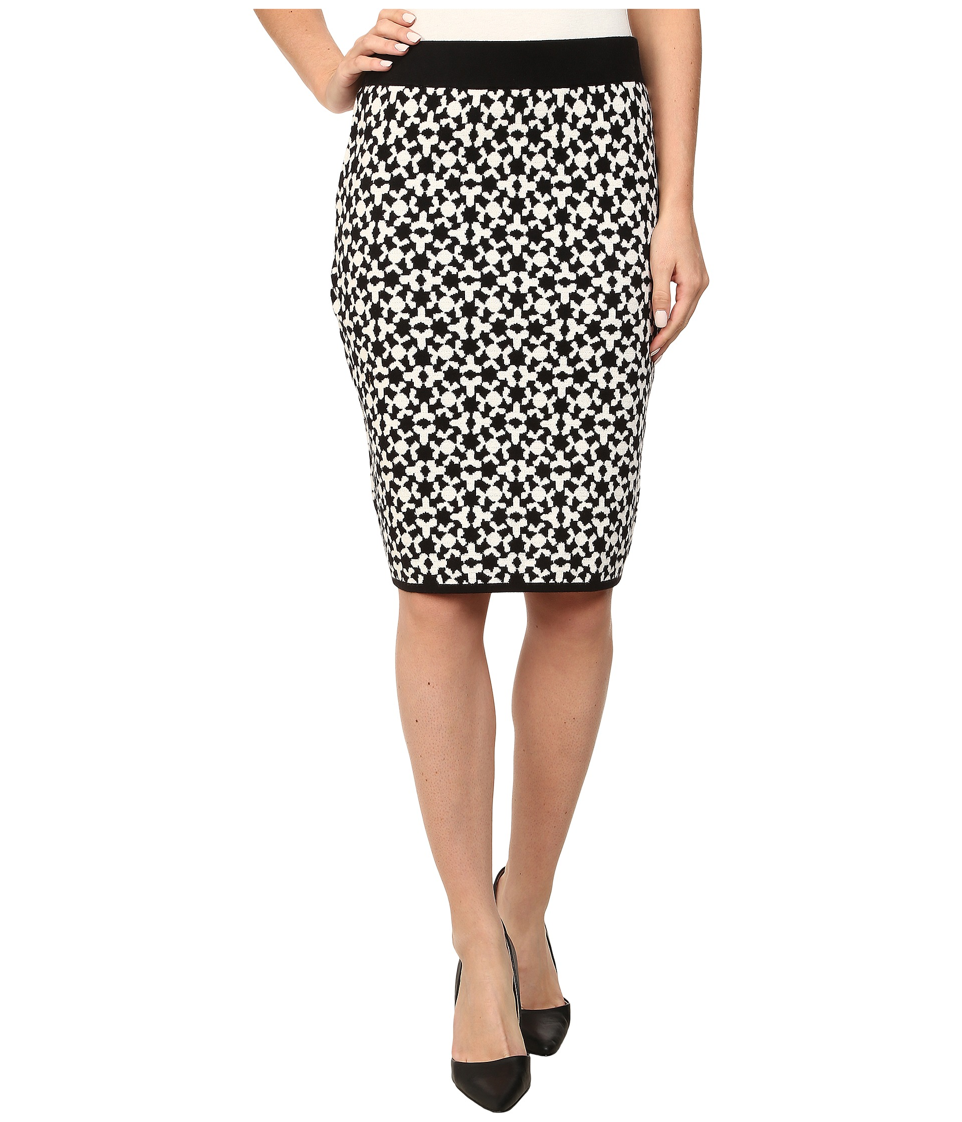 vince camuto jacquard sweater pencil skirt zappos