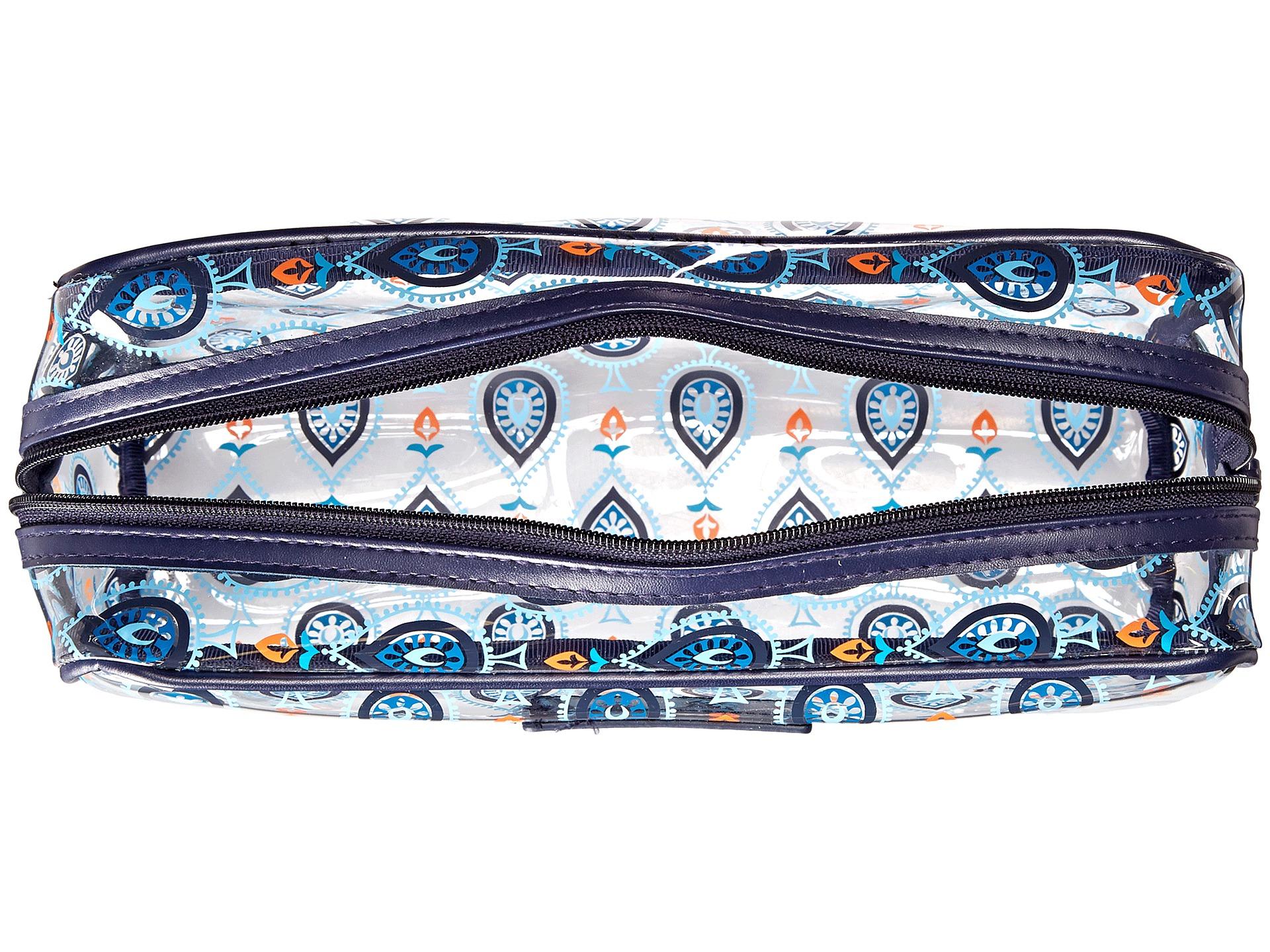 Vera bradley luggage large clear cosmetic marrakesh motifs zappos
