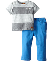 7 For All Mankind Kids - Striped T-Shirt and Jeans Set (Infant)