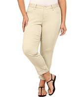 Jag Jeans Plus Size - Plus Size Erin Cuffed Ankle in Khaki