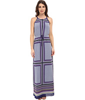 Adrianna Papell - Printed Halter Neck Maxi