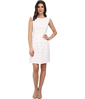 Adrianna Papell - Drop Waist Scalloped Flounce Dress