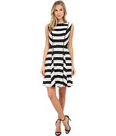 Adrianna Papell - Varigated Placed Stripe Print Dress