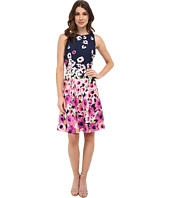 Adrianna Papell - Fit And Flare Printed Dress