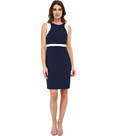 Adrianna Papell - Contrast Peek A Boo Back Sheath Dress