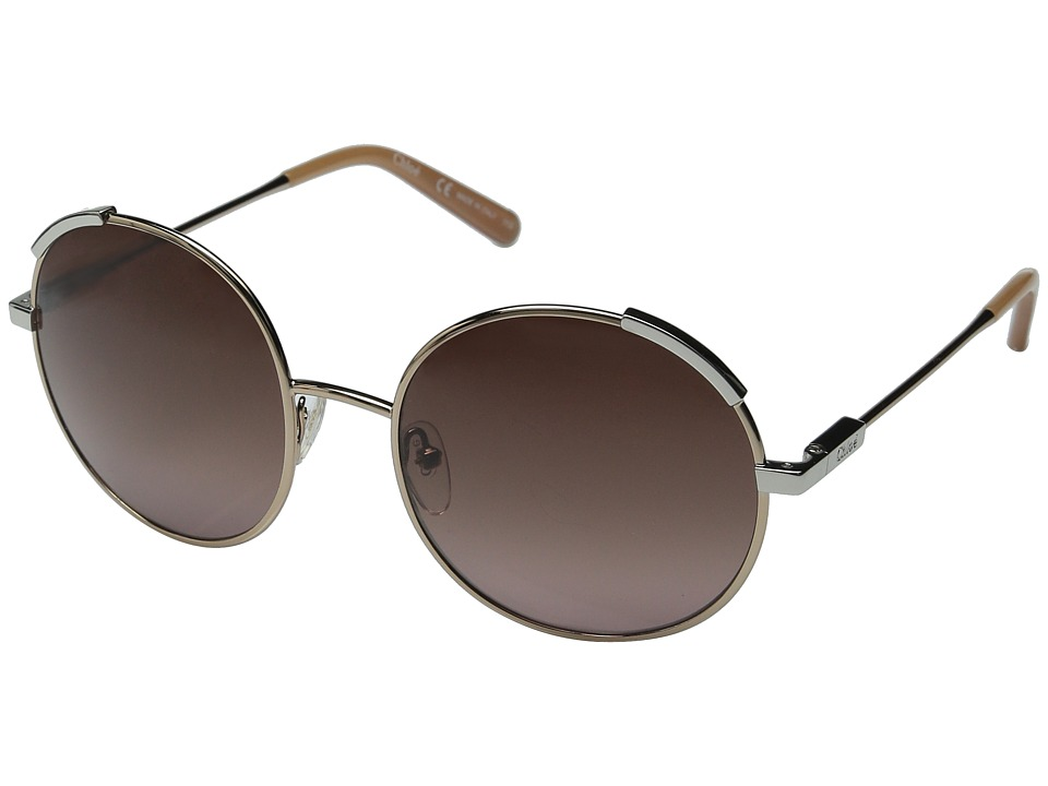 Chloe - Nerine (Rose Gold / Light Brown) Fashion Sunglasses