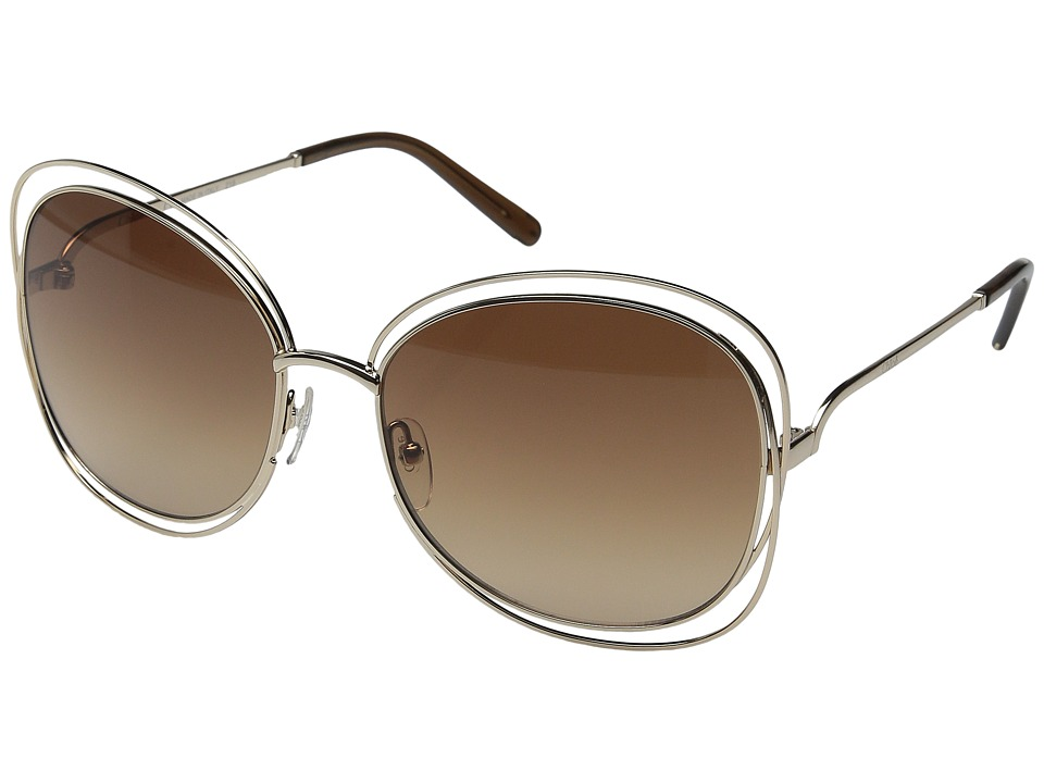 Chloe Carlina Rose Gold/Brown Fashion Sunglasses