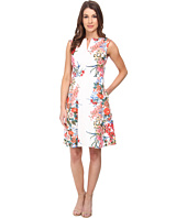 Adrianna Papell - Painted Multi Placed Print Dress