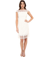 Adrianna Papell - Fabric Mixing Lace Sheath