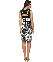 Adrianna Papell - Geo Cutout Back Contrast Floral Scuba Dress
