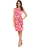 Adrianna Papell - Watercolor Floral Pleated Sheath