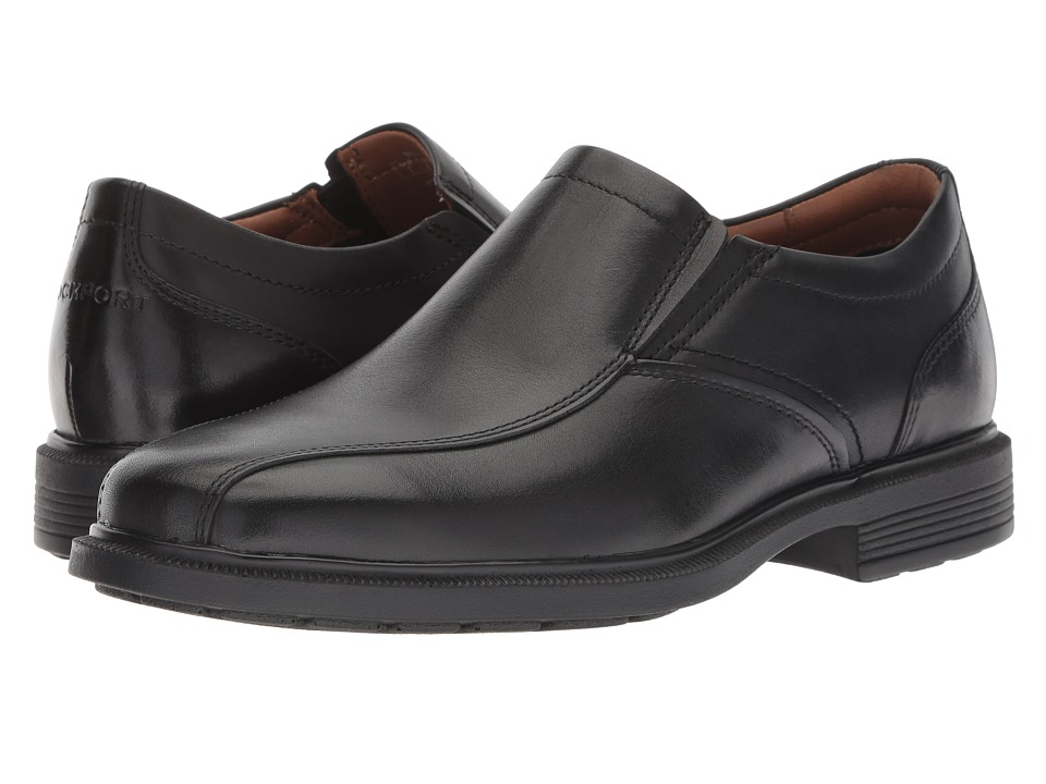 Rockport Dressports Luxe Bike Toe Slip On Black Mens Shoes