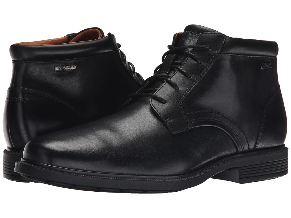 Rockport Dressports Luxe Waterproof Chukka (Black) Men