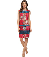 Adrianna Papell - Floral And Stripe Sheath Dress