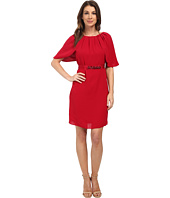 Adrianna Papell - Draped Sleeve Blouson Sheath Dress