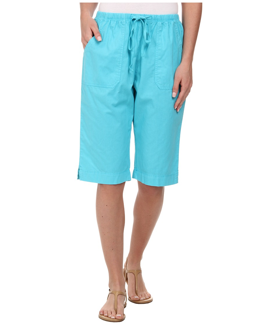 Fresh Produce Park Avenue Pedal Pusher Luna Turquoise Womens Shorts