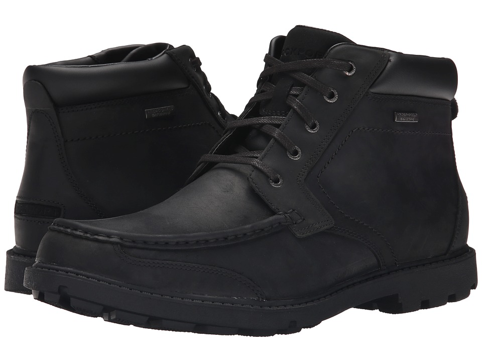Rockport Rugged Bucks Moc Boot Waterproof (Black II) Men