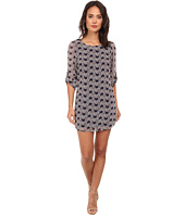 Gabriella Rocha - Rachel Print Chiffon 3/4 Sleeve Shift Dress