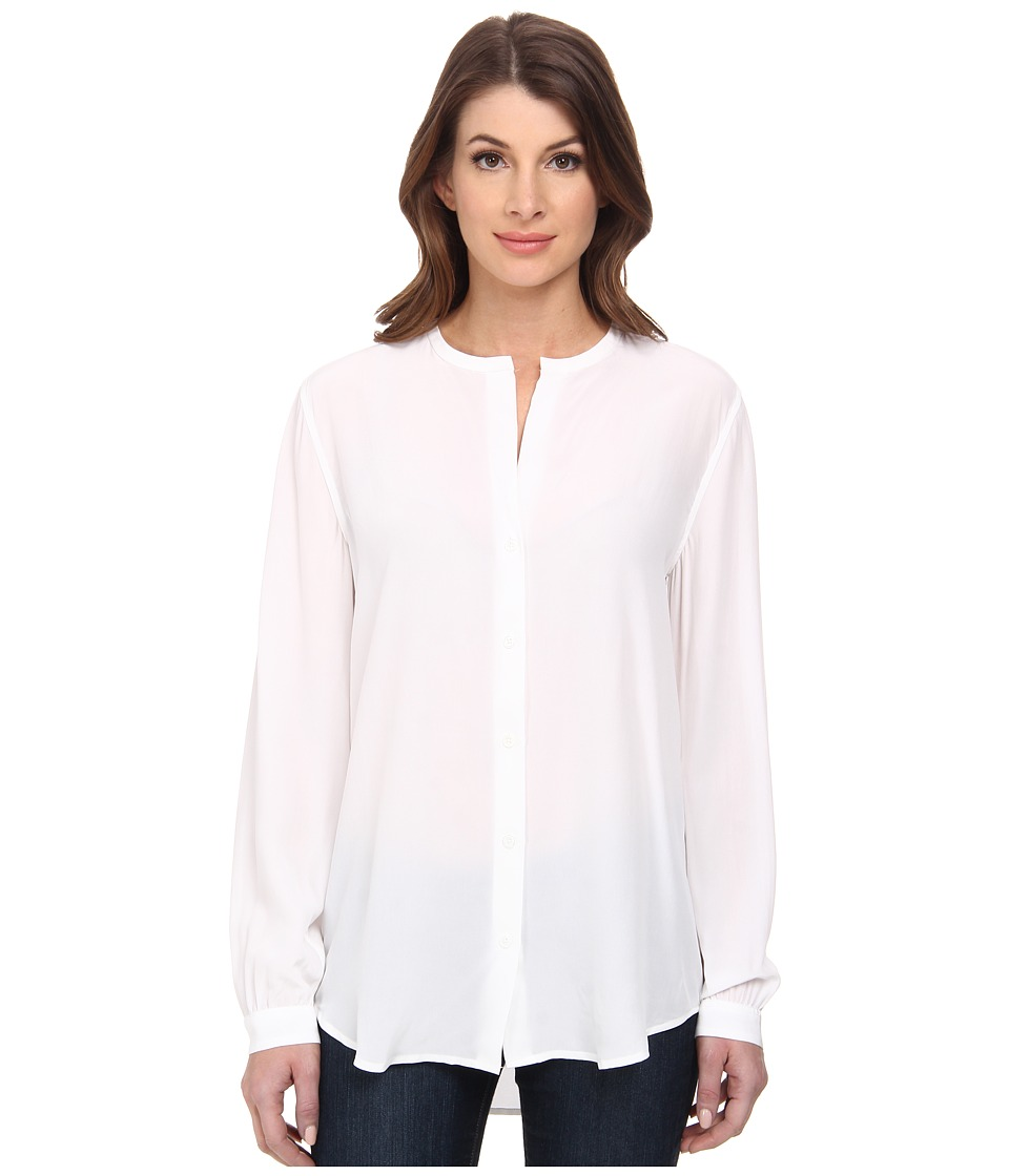 EQUIPMENT Faye Bright White Womens Long Sleeve Button Up