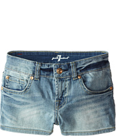 7 For All Mankind Kids - Faded Blue Shorts in 3 Illusion (Big Kids)