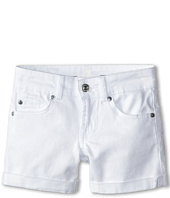 7 For All Mankind Kids - Mid-Roll Shorts in Clean White (Big Kids)