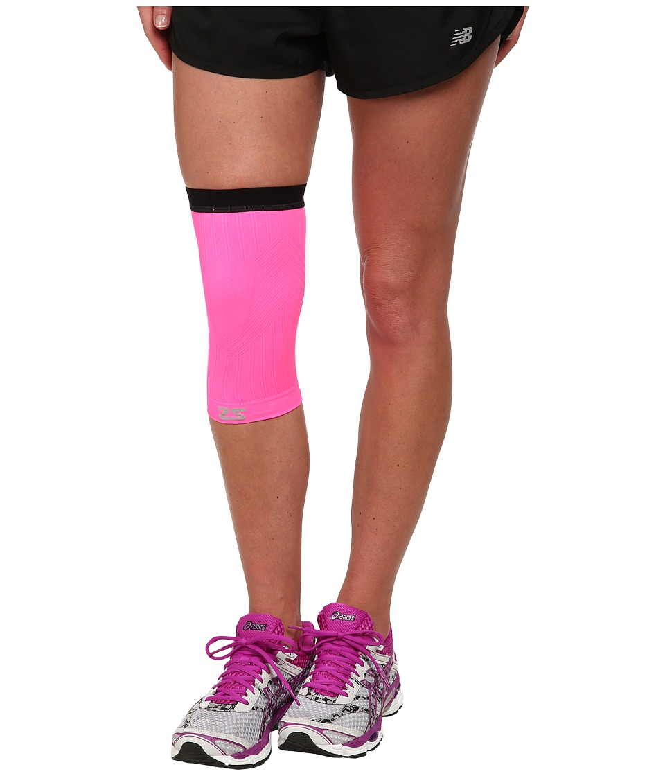 Zensah Compression Knee Sleeve Neon Pink Running Sports Equipment