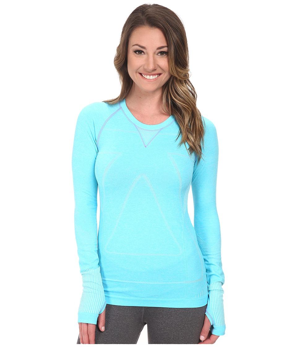 Zensah Run Seamless Long Sleeve Shirt (Heather Aqua) Wome...