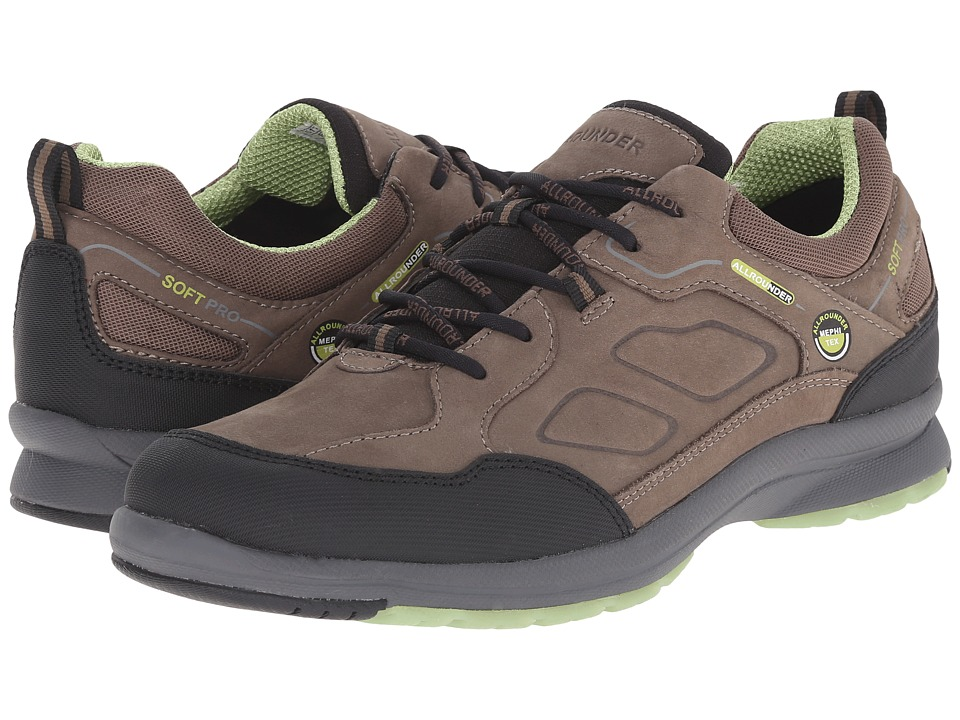 Allrounder by Mephisto Dascha Tex Black Rubber N/Fog G Nubuck Womens Lace up casual Shoes