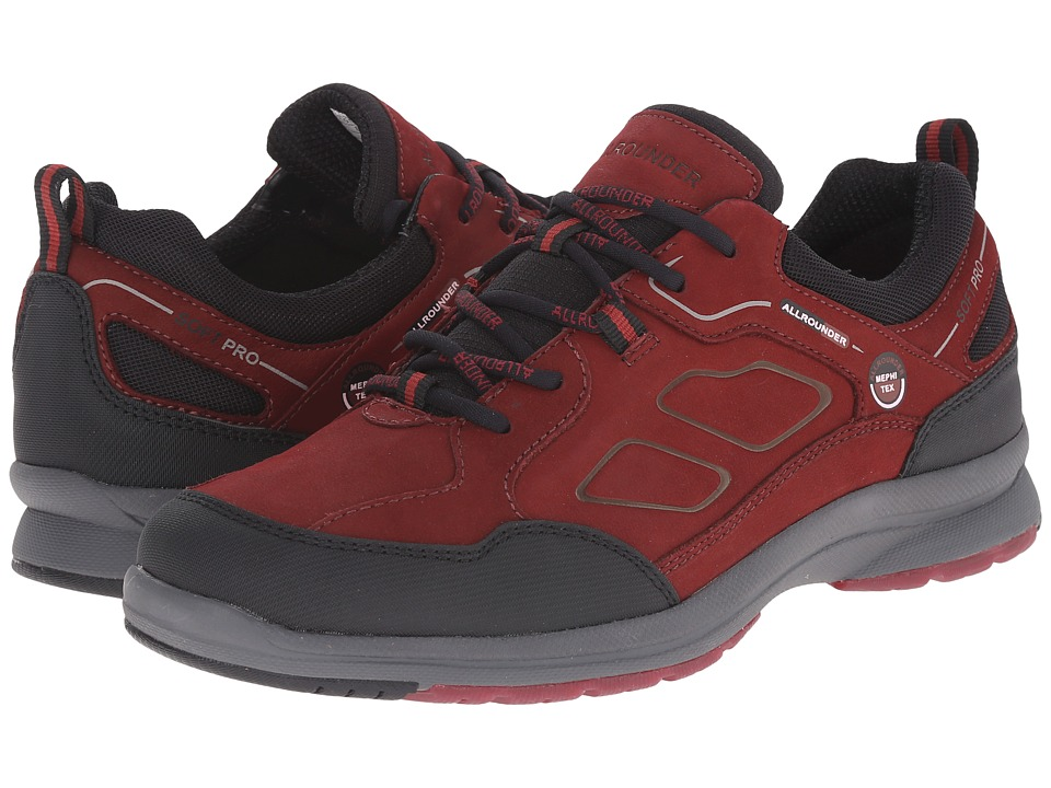 Allrounder by Mephisto Dascha Tex (Black Rubber/Winter Red G Nubuck) Women