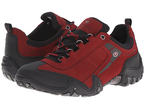 Allrounder by Mephisto Fina Tex - Black Rubber/Mid Red G Nubuck