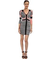Just Cavalli - 3/4 Sleeve Colorblock Slim Dress