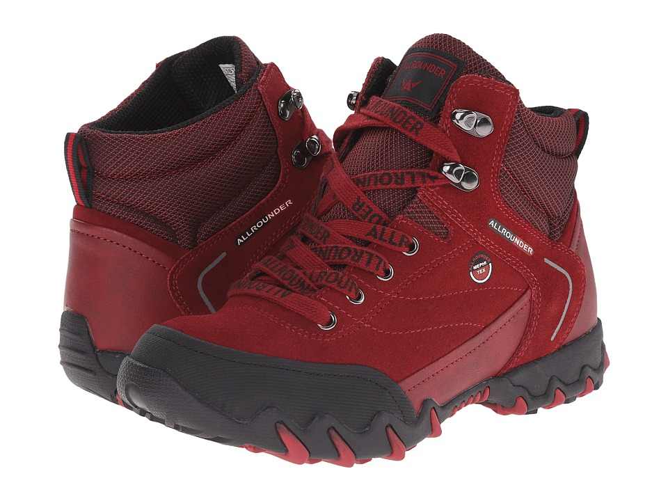 Allrounder by Mephisto Nigata Tex (Black Rubber/Mid Red O Suede) Women