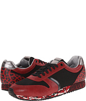 Just Cavalli - Blended Leopard Printed Leather Sneaker