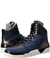 Just Cavalli - Viper and Textured Leather Hi-Top