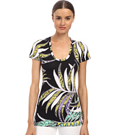 Just Cavalli - Mixed Print Scoop Neck Top