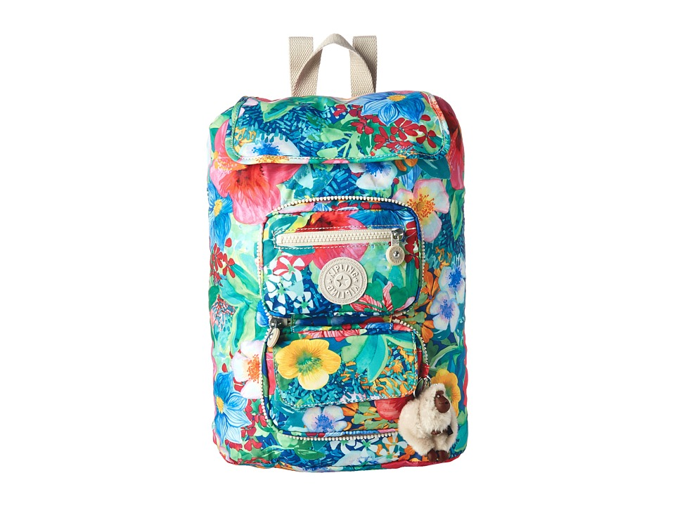 Kipling Alicia Foldable Backpack Tropical Garden Print Backpack Bags