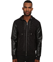 Just Cavalli - Studded Hoodie with Leather Sleeves