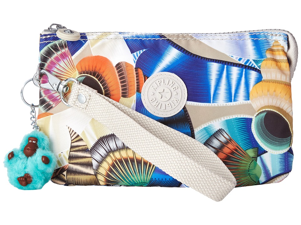 Kipling - Creativity XL Printed Pouch (Oceanic Day Dream Print) Clutch Handbags