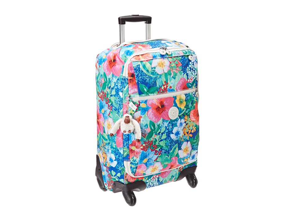 Kipling - Darcey Small Wheeled Luggage (Tropical Garden Print) Duffel Bags